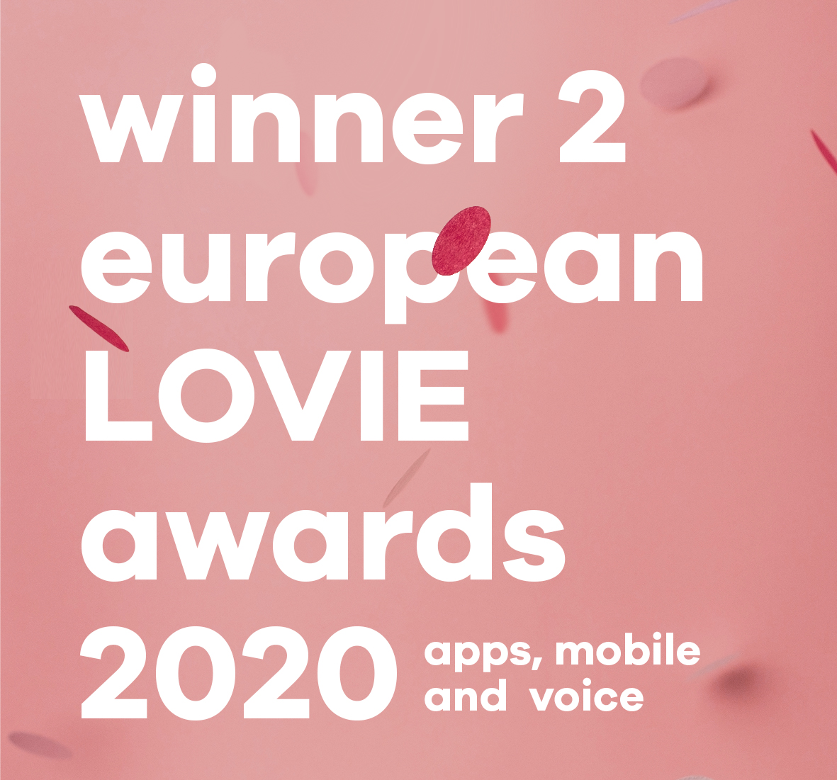 qlinker winner 2 LOVIE Awards (Silver + People's Choice) 2020 for best app | mobile | voice