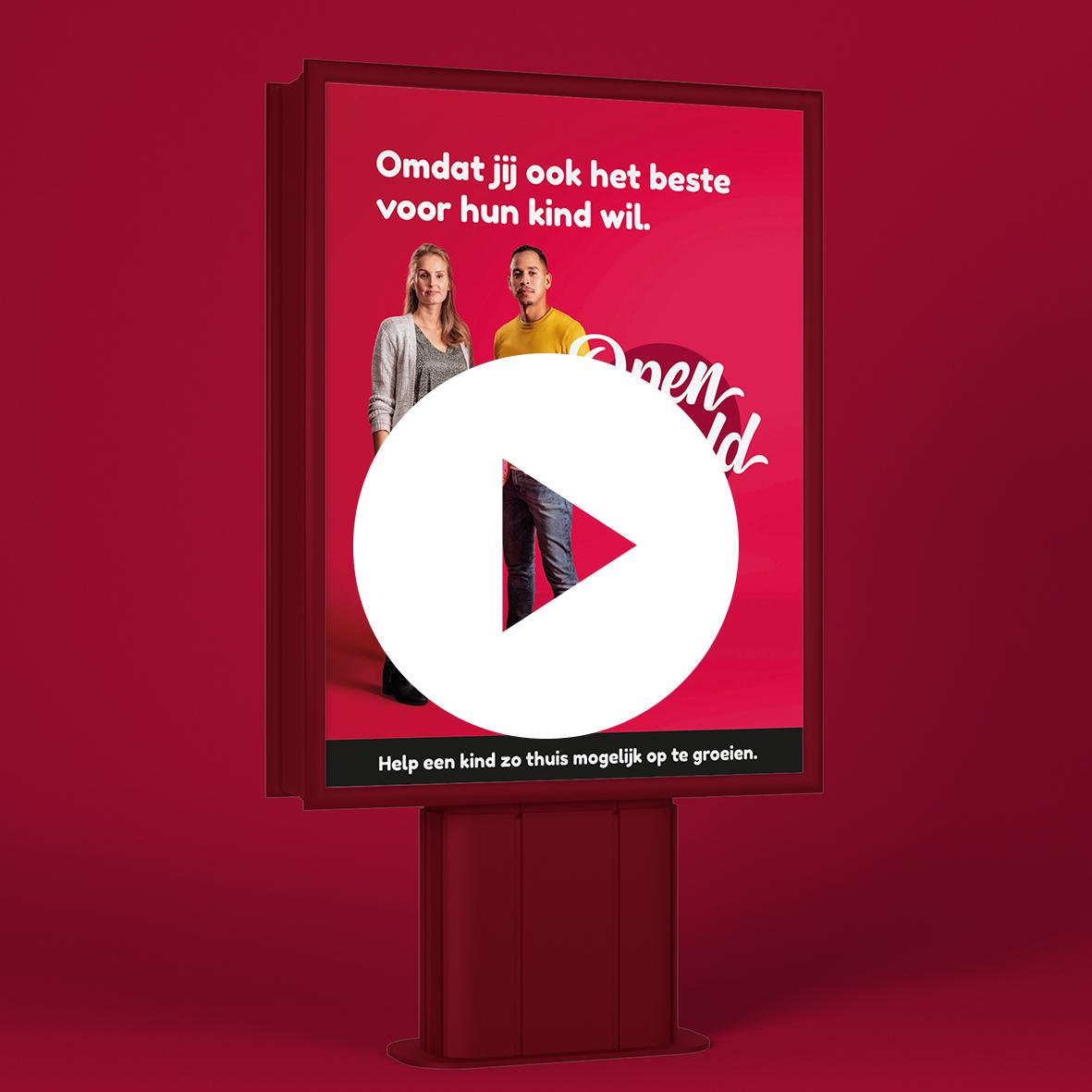 Openjewereld.nu video billboards tijdens de Week van de Pleegzorg.